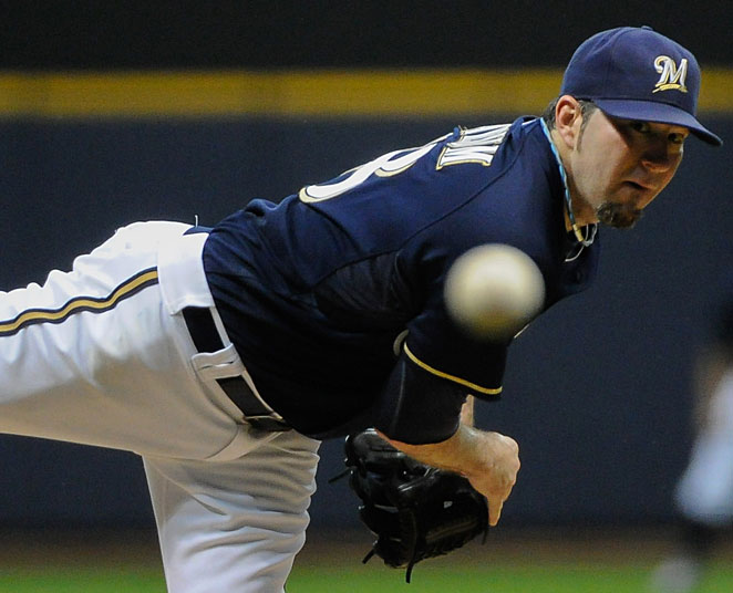 Shaun Marcum made only 21 starts in 2012 because of an elbow injury.