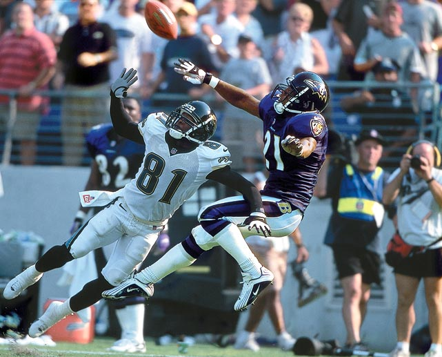 The 10th overall pick of the 1999 Draft, the Arizona product snagged 26 career picks for the Ravens, returning six of them. In 2002, he returned a missed field goal attempt 107 yards, which stood as the longest play in NFL history until 2007.