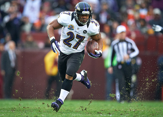 A threat to Jamal Lewis' rushing record, Rice ranks second in all-time rushing yards for the Ravens with 3,013. Rice is no one-trick pony, though, also setting the single season records for receptions (78) and receiving yards (702) for a Baltimore running back in 2009.