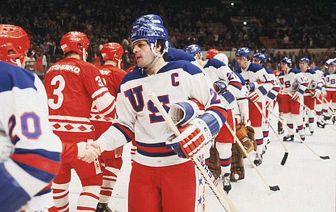 Mike Eruzione will part with his jersey but not the gold medal he won with U.S. Team at Lake Placid.