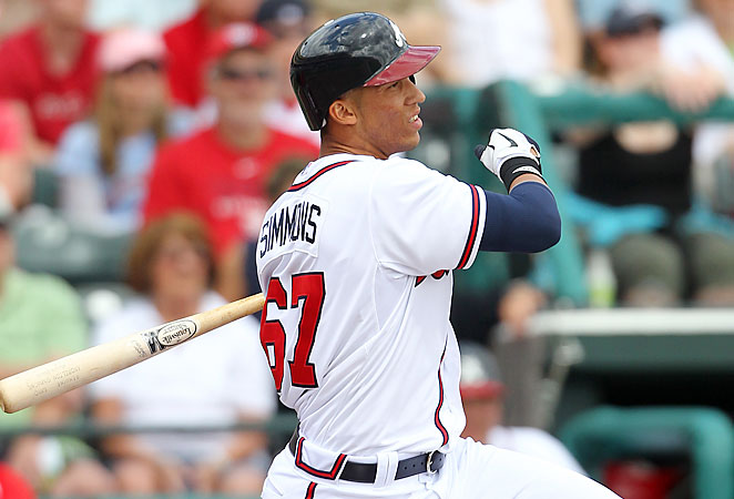 Andrelton Simmons could boost the 17 runs he scored in 2012 with Justin and B.J. Upton in the lineup.