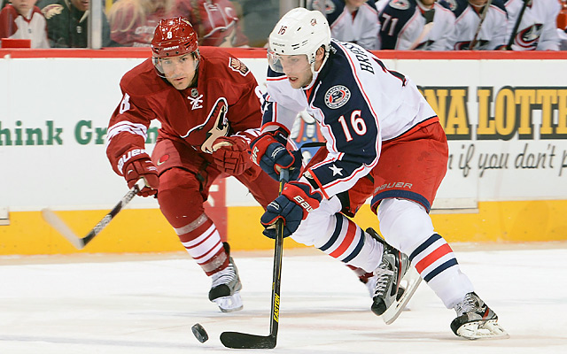Matthew Lombardi (left) had come to the Coyotes in a trade with Toronto on Wednesday.