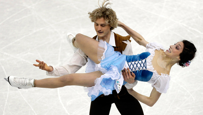 Four-time champs Meryl Davis and Charlie White reached a new level of dominance in the short dance.