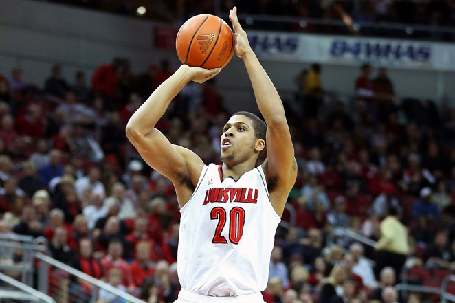 Louisville forward Wayne Blackshear is expected to be out a 'short period' after spraining his shoulder.