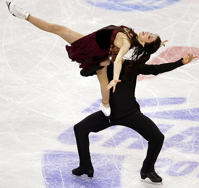 Meryl Davis and Charlie White compete in the pairs free dance at the U.S. Figure Skating Championships on Jan. 26. The duo's free dance score of 118.42 was more than 13 points better than the runner-ups, Madison Chock and Evan Bates.