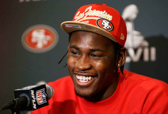 Linebacker Aldon Smith said he sees no problem in letting kids play football.
