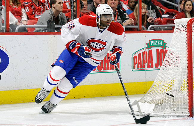 P.K. Subban has tallied 21 goals and 55 assists 160 games during his three-year career in Montreal.