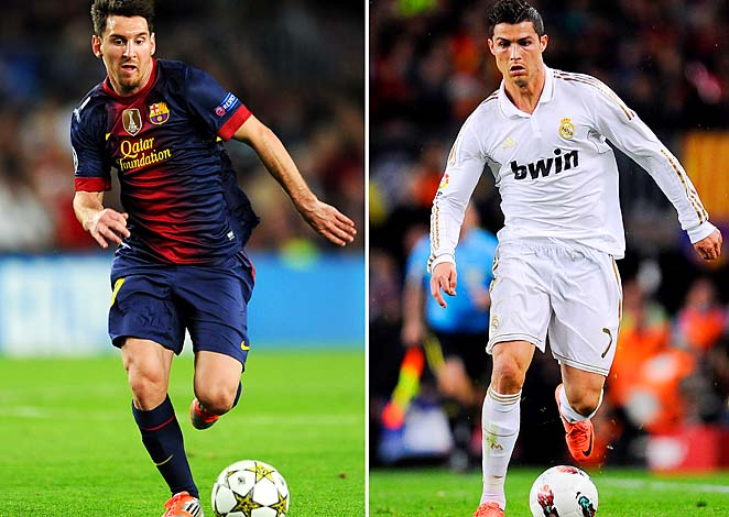Lionel Messi (left) and Cristiano Ronaldo went 1-2 in Ballon d'Or voting.