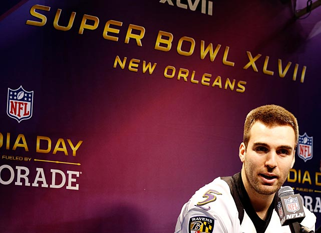 Baltimore quarterback Joe Flacco's best line at Media Day may have been when he said he's not dull, but probably pretty close to it.