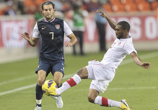 Graham Zusi and the U.S. failed to get much going in the midfield or up front against Canada.