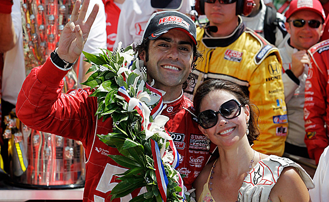 Dario Franchitti, who was married to Ashley Judd in 2001, won his third Indy 500 last May.