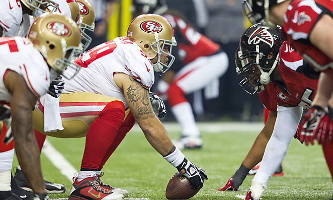 The 49ers line paved the way for 155.7 rushing yards per game in 2013, fourth-best in the league.