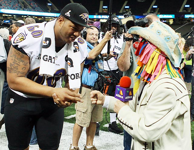 Dignity is the hallmark of the reporters who cover the Super Bowl, as Ravens guard Antoine McClain could plainly see during his interview with Jose Maraue Zamora at the Superdome.