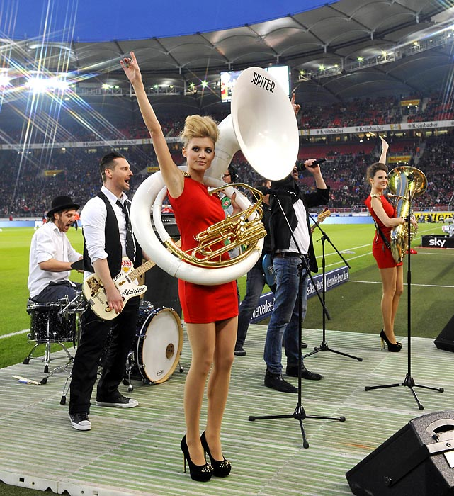Who needs Beyonce? In Stuttgart, they really know how to put on a halftime show.