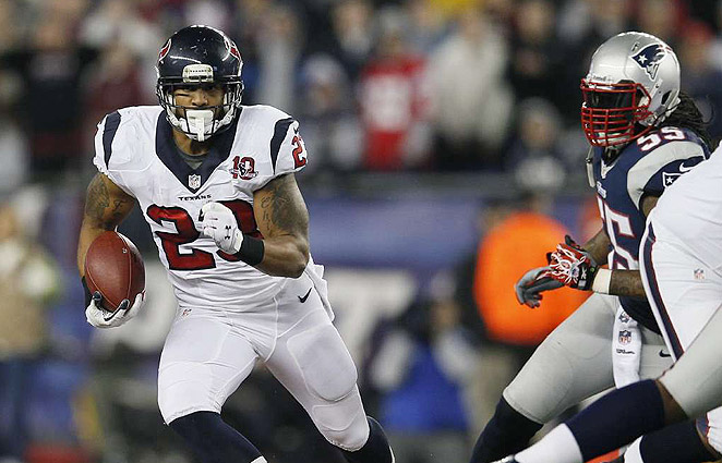 Arian Foster, 26, rushed for 1,424 yards and 15 touchdowns in 2012.