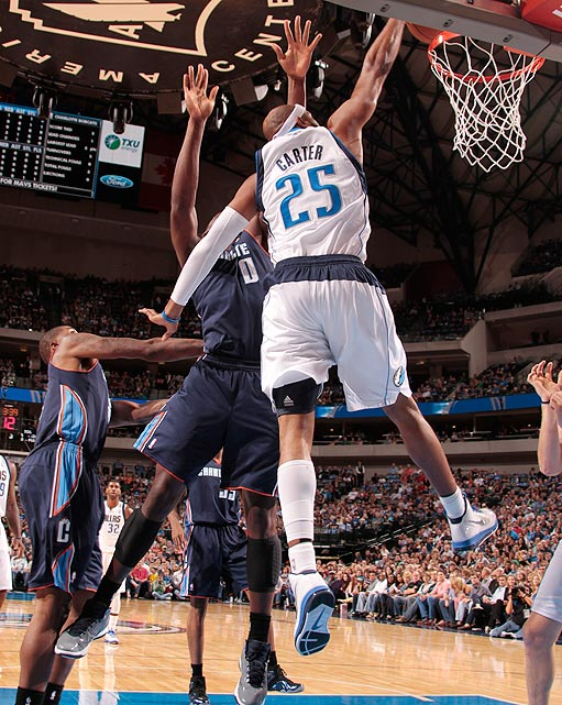 "Vince Carter still has it. The man previously known as ""Half-Man, Half-Amazing"" and ""Air Canada"" dusted off his old skills for this one-handed slam against the Bobcats."