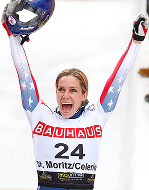 Noelle Pikus-Pace capped off her comeback season with a silver medal at the skeleton world championships.