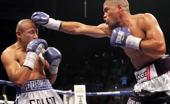 Juan Manuel Lopez (right) has lost twice, with both losses coming against Orlando Salido.