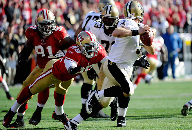 Though on a sack drought, Aldon Smith is sure to draw the attention of Baltimore's offensive line.
