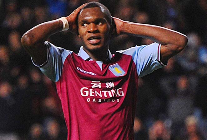 Christian Benteke and Aston Villa have four wins in 24 Premier League matches this season.