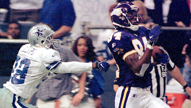 In 1998, Randy Moss caught 17 TDs as a rookie. This season, he had just three for the 49ers.