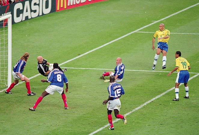 France and Brazil memorably played in the 1998 World Cup final, won by the French.