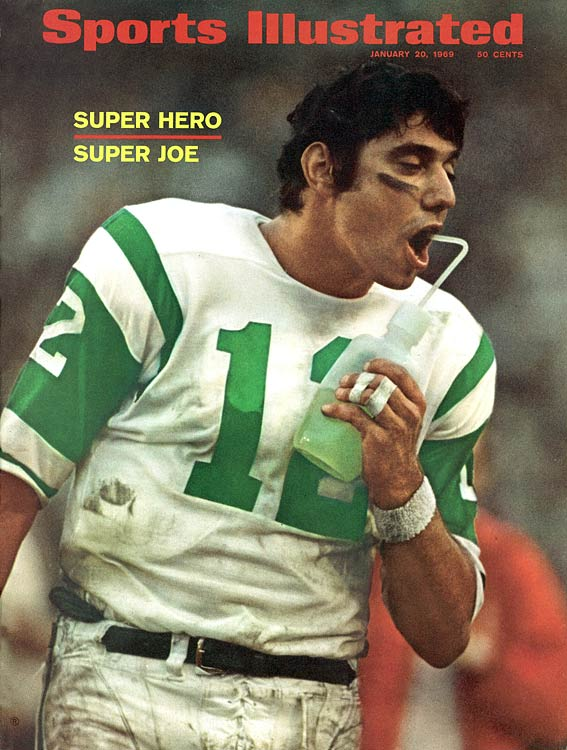 Namath's numbers weren't staggering -- 17-of-28 for 206 -- but he was steady against a very good defense and his confidence was the inspiration for the AFL Jets' historic victory over the NFL Colts.