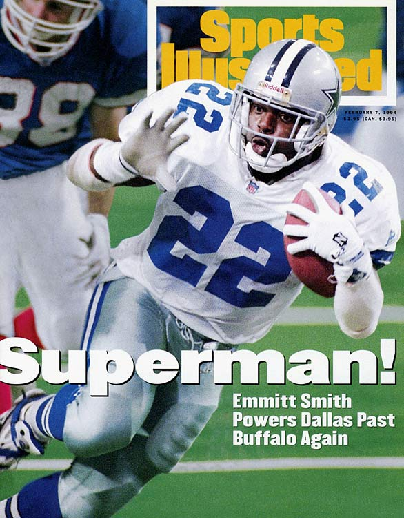 Smith completed Buffalo's miserable streak of four trips to the Super Bowl without a win while winning a fourth for Dallas. After trailing 13-6 at halftime, Smith scored twice on 19 of his 30 total carries in an utterly one-sided second half.