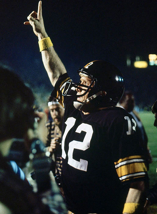 Bradshaw twice rallied the Steelers to rack up 309 throwing yards and two touchdowns. He completed 14-of-21 passes on his way to becoming the career leader in touchdown passes (nine) and passing yards (932) in a Super Bowl.