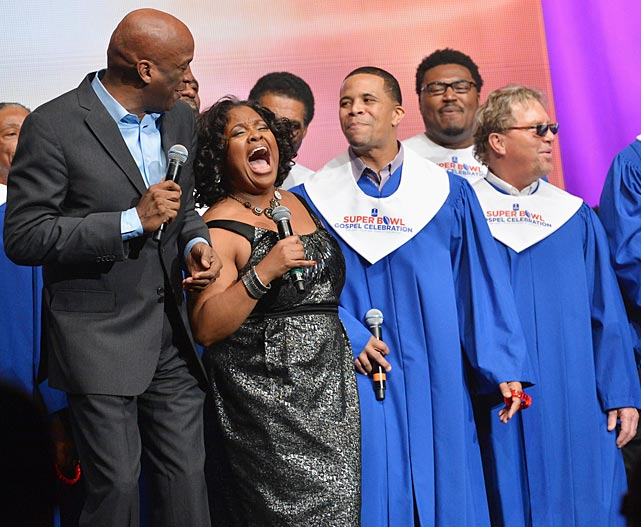 Donnie McClurkin, Sherri Shepherd and others perform during the Super Bowl Gospel 2013 Show at Lakefront Arena.