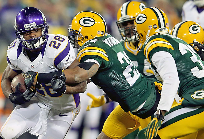 Adrian Peterson rushed for 2,109 yards and helped the Vikings earn a playoff berth.