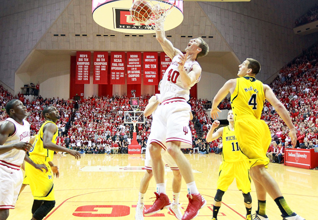 All five Indiana starters, including Cody Zeller (19 points), finished in double figures against Michigan.
