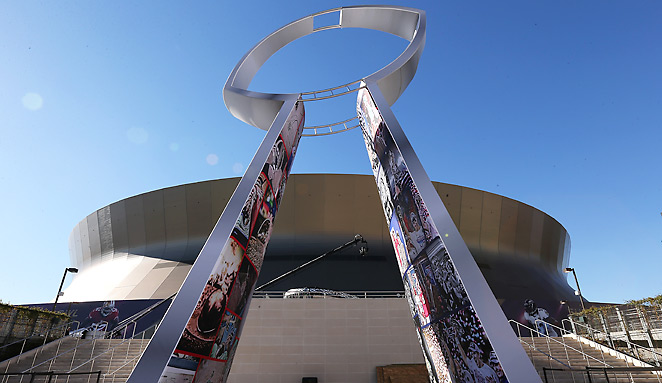 Super Bowl XLVII is the 10th Super Bowl to be held in New Orleans, tied for most of any city (Miami).