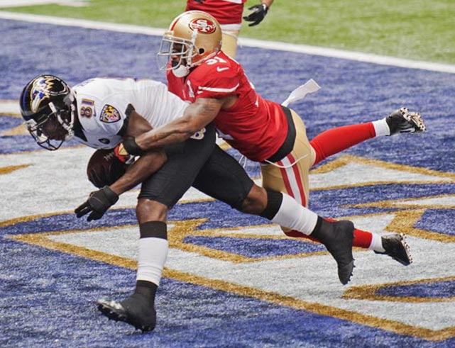 Anquan Boldin helped the Ravens to a 7-0 lead.