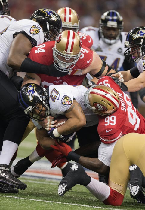 Ray Rice had only 31 yards rushing on his first 10 carries.