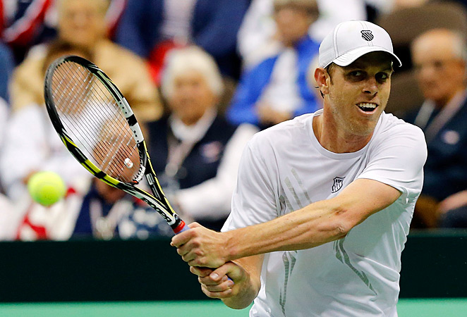 Sam Querrey beat Thiago Alves 4-6, 6-3, 6-4, 7-6 (3) to give the U.S. a win over Brazil.