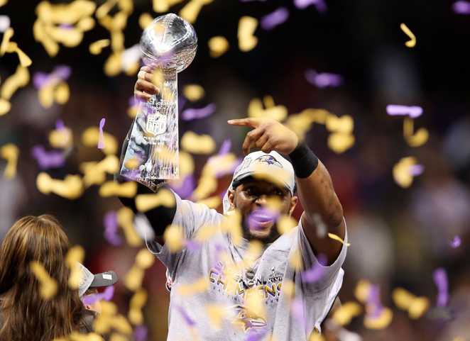 Ray Lewis won the second Super Bowl of his 17-year career in his final game on Sunday.