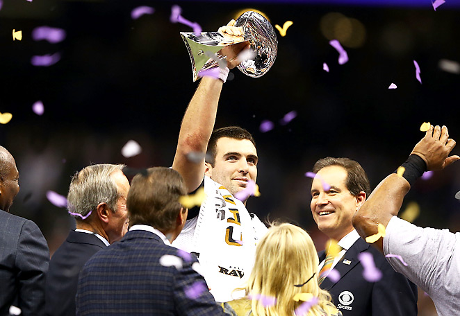 Joe Flacco tied Joe Montana's 1989 record in throwing 11 playoff touchdowns without an interception.