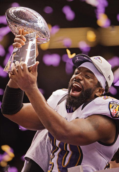 In what may have been his last game as a Raven, Ed Reed won his first Super Bowl trophy.