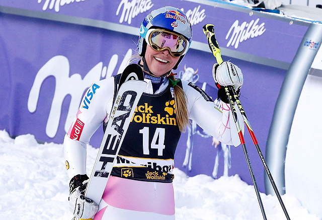 When she's been able to race, Lindsey Vonn has been successful on the slopes this season.