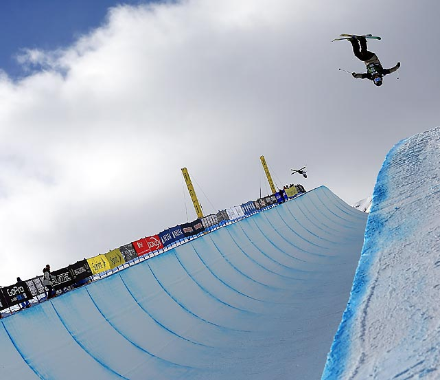 Walter Wood takes a practice run before qualifications for the FIS Freestyle Ski Halfpipe World Cup at the Sprint U.S. Grand Prix in Park City, Utah. Wood scored a 79.8 to finish 16th in the competition.