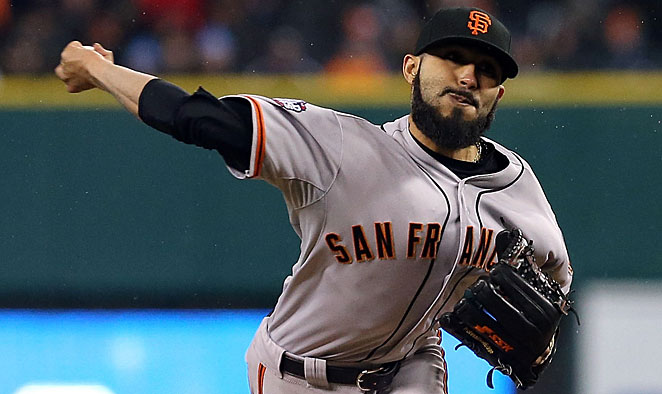 Sergio Romo closed out the Giants' World Series title last October.