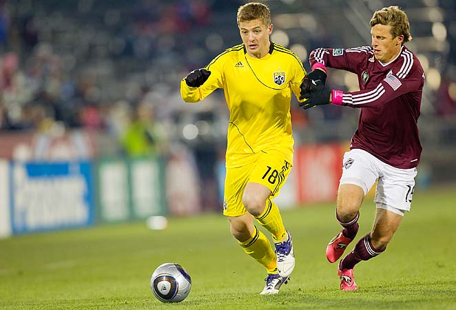 Robbie Rogers (left) hasn't played in MLS since 2011 with the Columbus Crew.