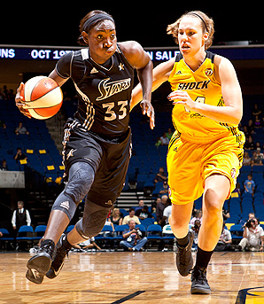 San Antonio Silver Stars' Sophia Young led the team in points during the 2012 season.