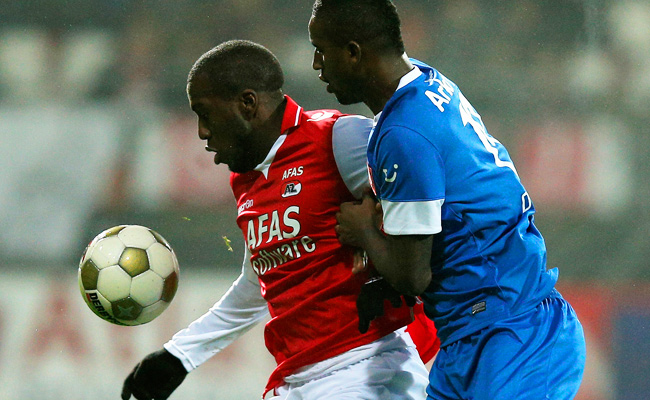 Jozy Altidore (red) has a career-high 20 goals for his Dutch league club this season.