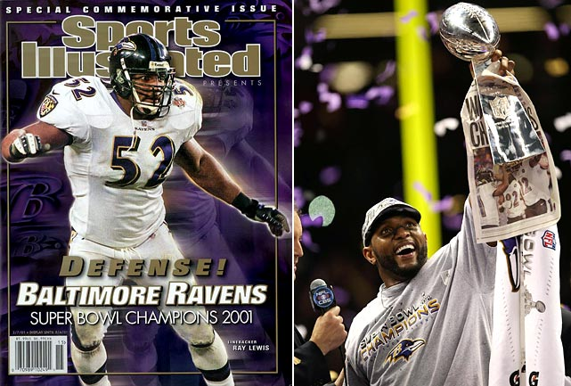 The polarizing Lewis retired following the Ravens' 34-31 victory over the 49ers in Super Bowl XLVII. The 26th pick in the 1996 draft played his entire 17-year NFL career in Baltimore. In January 2001, the linebacker earned Super Bowl MVP honors as the Ravens won their first NFL championship with a 34-7 blowout of the Giants. The victory came seven months after Lewis had pleaded guilty to misdemeanor obstruction of justice charges for giving misleading statements to police about his involvement in a deadly fight outside an Atlanta nightclub in the hours after Super Bowl XXXIV.
