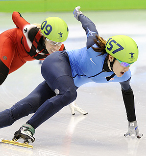 Short track speedskater Katherine Reutter won silver in the 1000 meter event at the Vancouver Olympics.