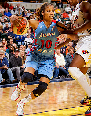 Lindsey Harding played for the WNBA's Atlanta Dream the last two seasons.