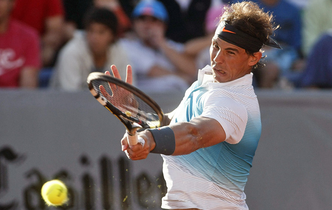 Rafael Nadal, whose knee problem has lingered despite on-going therapy, hadn't played since June 28.