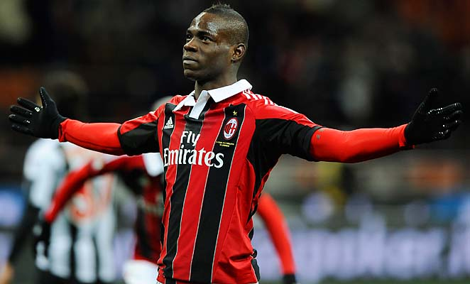Mario Balotelli scored in his debut for AC Milan over the weekend.